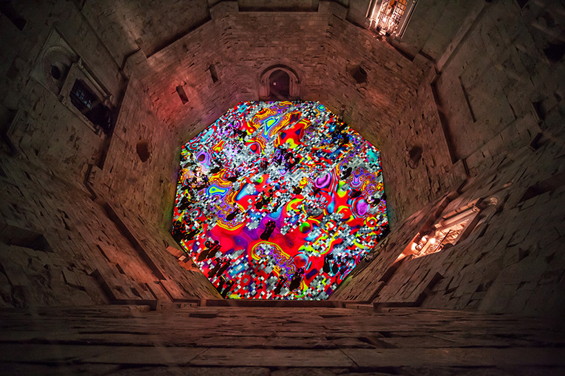 Miguel Chevalier Morphs Italian Castle With Kaleidoscopic
