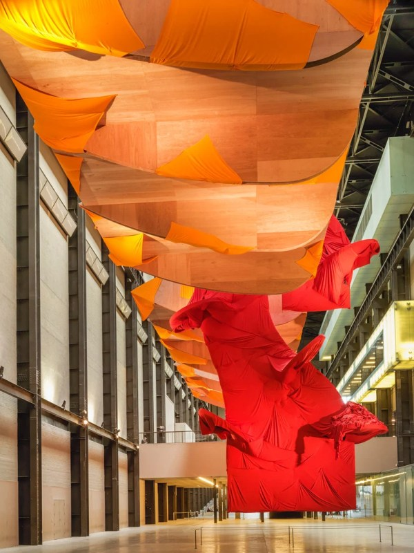 Richard Tuttle Drapes Winged Sculpture With Textiles