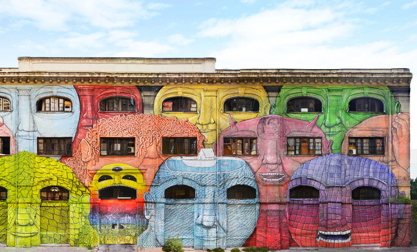 blu adds painted personalities to roman military warehouse