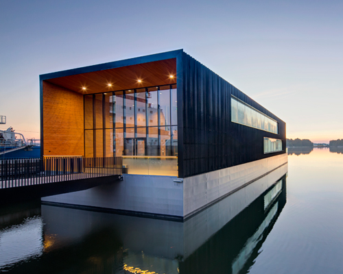 K2S architects floats arctias ice breaking headquarters