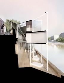 Menomenopiu Architects Proposes Capsule Hotel Seine