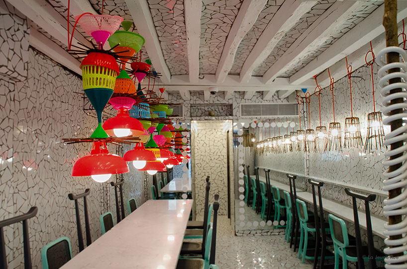 sofas for sell balkarp sofa bed instructions paola navone wraps ibaji restaurant in fragmented tiles