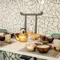 Wide Sofas Traditional Sectional Canada Paola Navone Wraps Ibaji Restaurant In Fragmented Tiles
