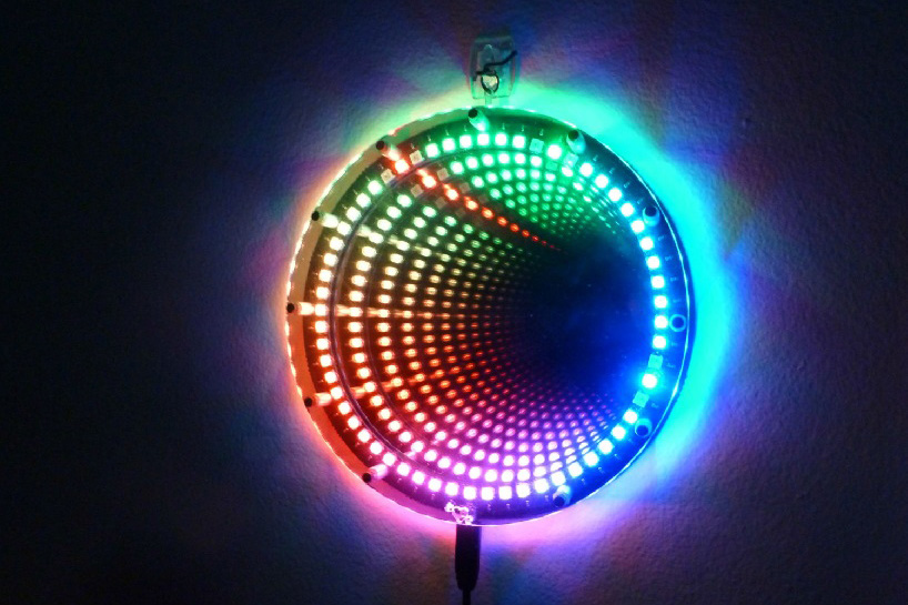 infinity mirror clock by