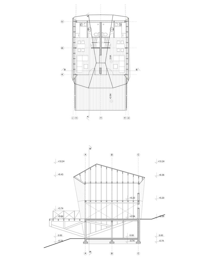 4of7 architecture folds mirrored envelope of kopaonik