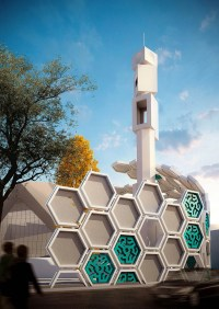 qods mosque renovation by arash g. tehrani generated from ...