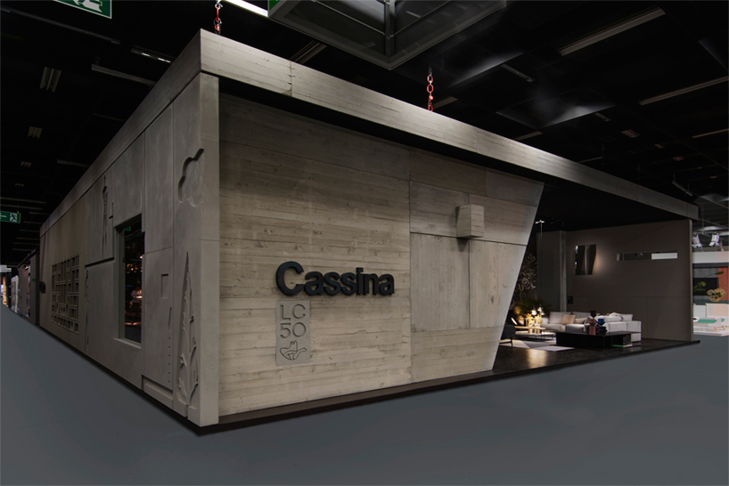 chair design by le corbusier bar stool uk cassina stand at imm cologne cites modern architecture of