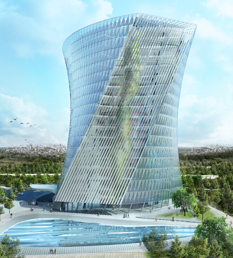 coop himmelblau releases images of flying garden tower