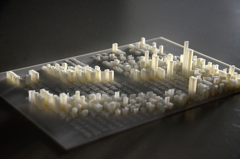 hongtao zhou extrudes typography into 3Dprinted textscape