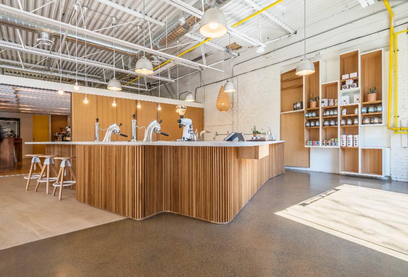 williamson chong designs tasting bar for pilot coffee roaster in toronto