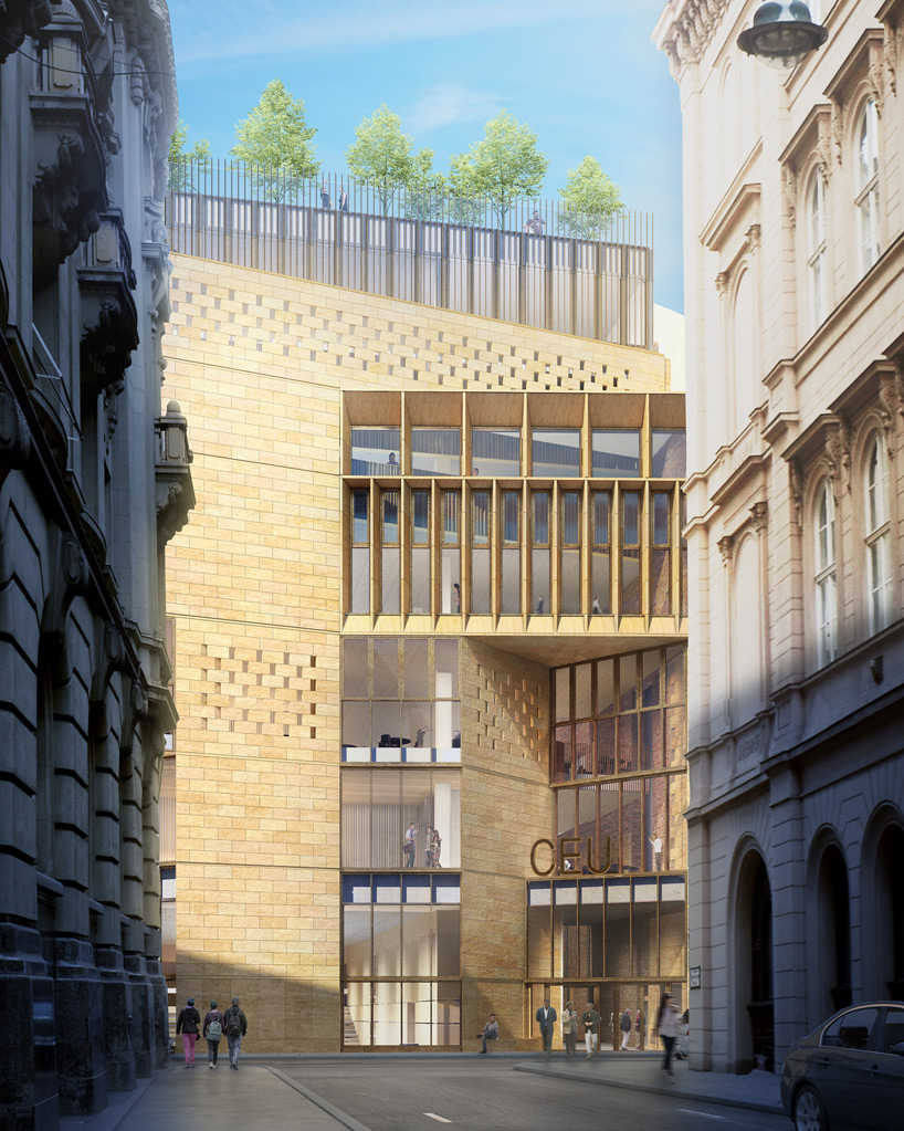 CEU campus by odonnell  tuomey breaks ground in budapest