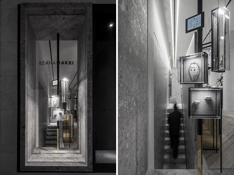 ileana makri store by kois associated architects evokes an enchanted forest