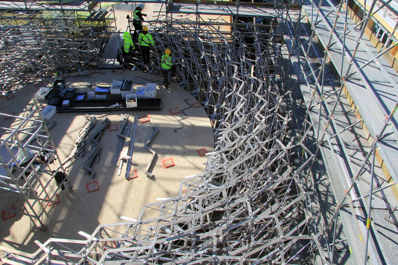 the UK pavilion takes shape at milans 2015 expo site