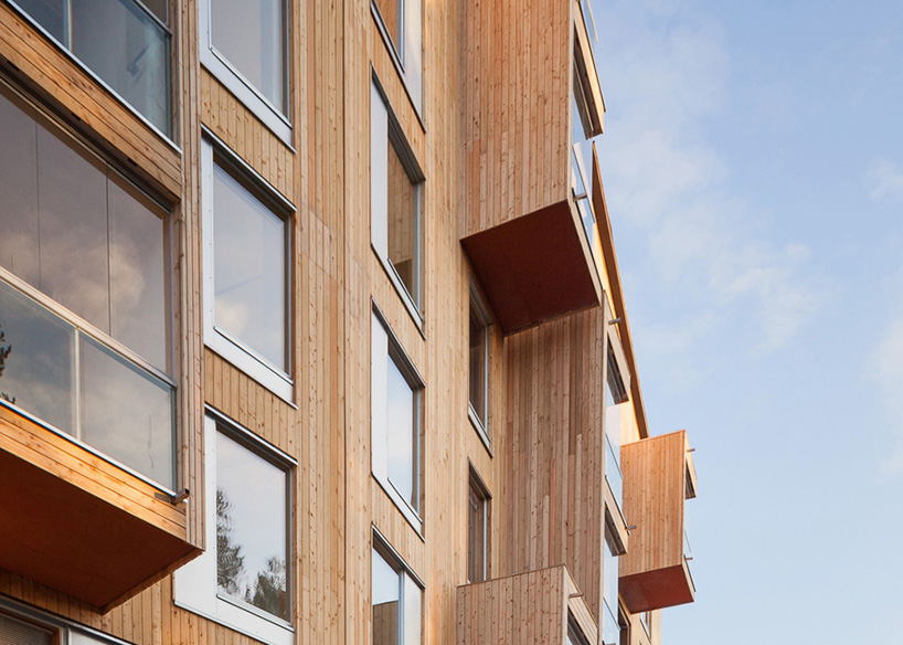 puukuokka by OOPEAA a multistorey timber housing complex