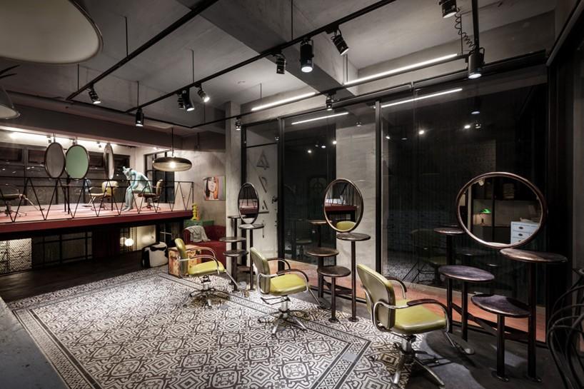 HAO design renovates splitlevel hair salon and residential