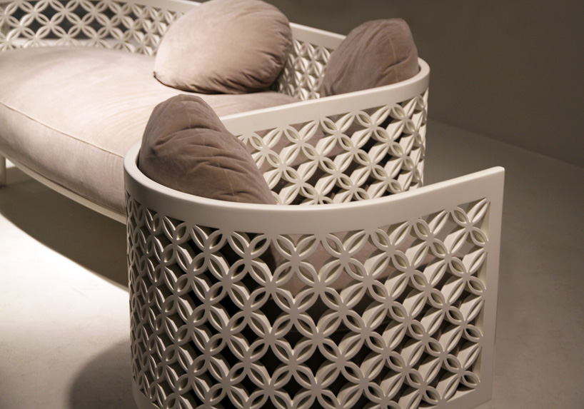 lounge chair for living room stand up nada debs curves arabesque design days dubai 2015