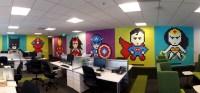 office workers install 8-bit superhero mural using 8,024 ...