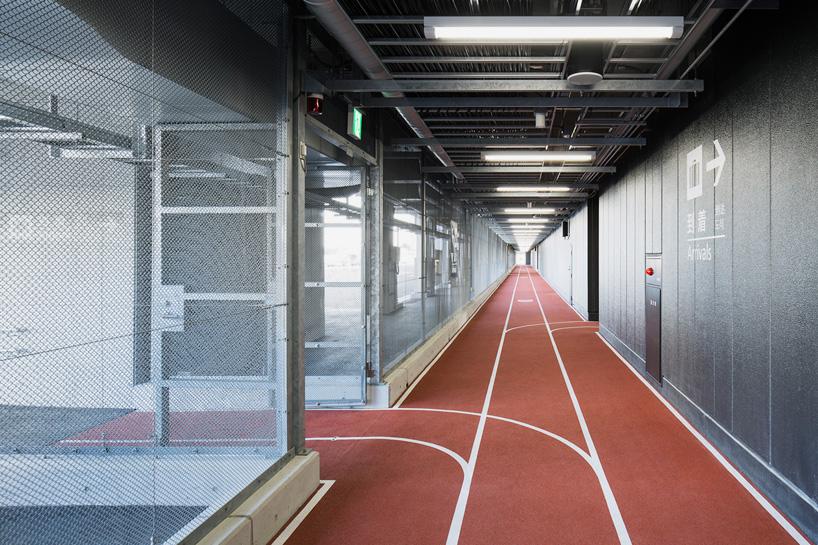 narita airports new terminal has colorcoded running tracks