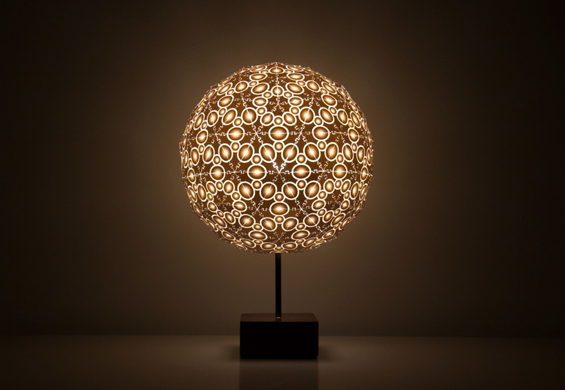robert debbanes 3Dprinted lamps at new york design week