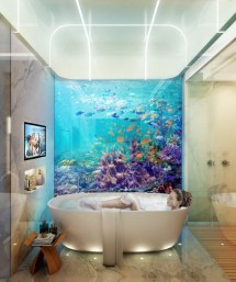 Floating House with Underwater Room