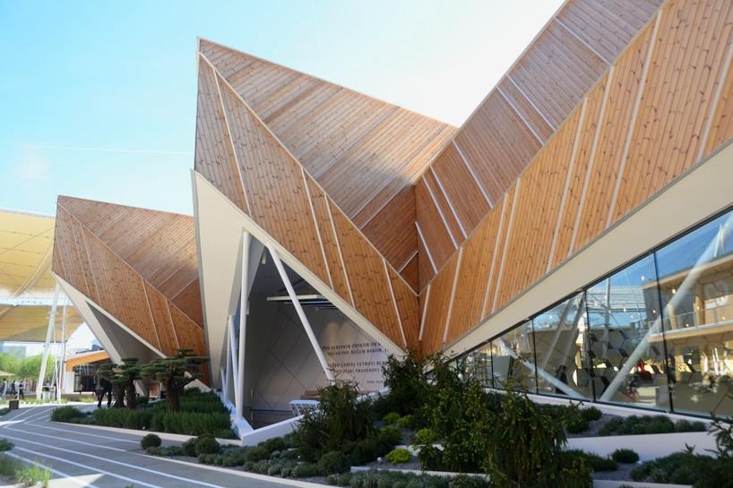 chair design restaurant posture ebay slovenia pavilion by sono architects at expo milan 2015
