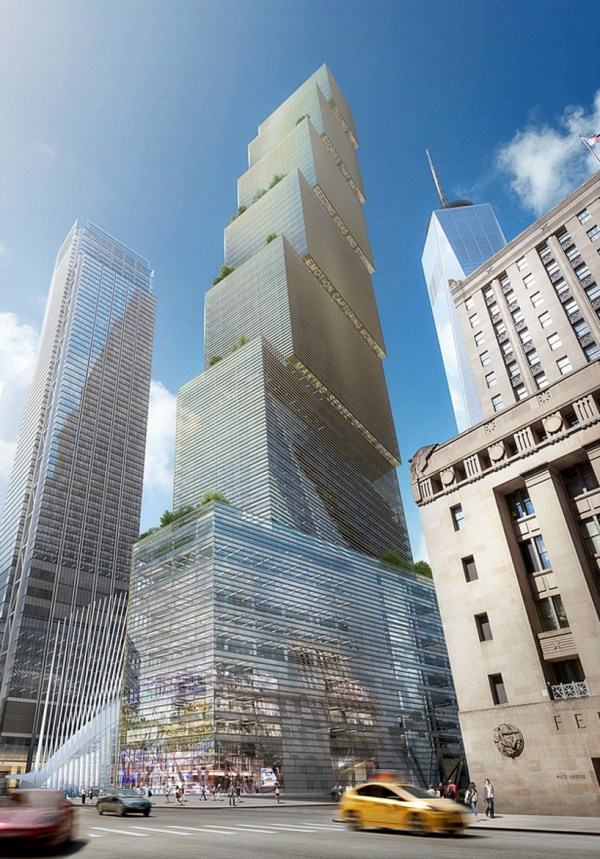 Big Reveals Addition Nyc Skyline With Stepped 2 Wtc