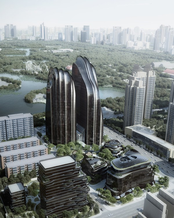 Chaoyang Park Plaza Mad Architects Tops In Beijing