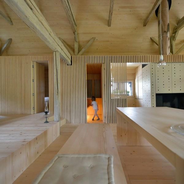 Ofis Remodels Alpine Barn Apartment Contemporary Loft
