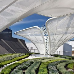 Chair With Canopy White Linen Dining Room Covers Belectric Showcases Future Solar Tech For German Pavilion At Expo 2015