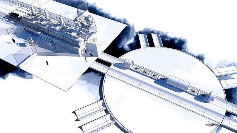Futuristic Concept Transport Art