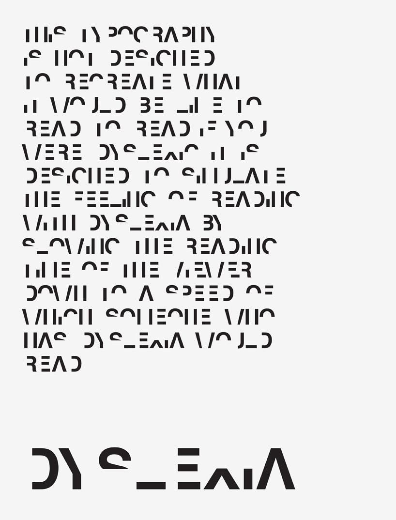 daniel britton stunts reading ability with dyslexia typeface