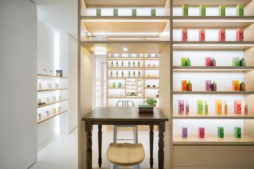nendo designed store incorporates self study beauty areas