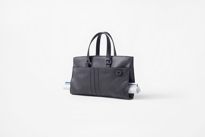 nendo and tod's fashion adaptable leather bag for architects