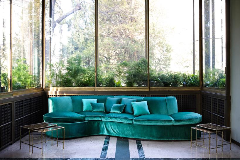 velvet chair design loveseat and dedar milano goes inside the historic villa necchi campiglio