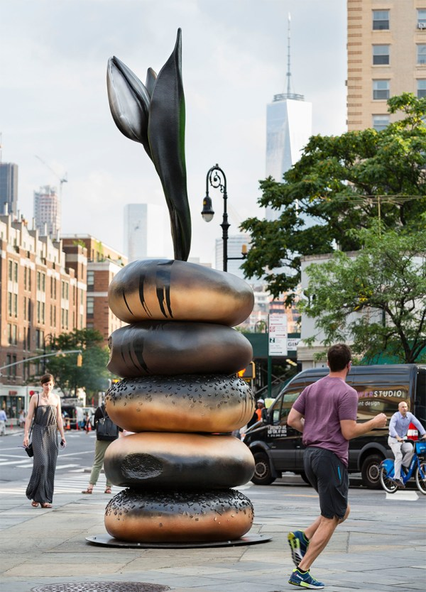 Hanna Liden Sets Sculptural Bagel Totems York City