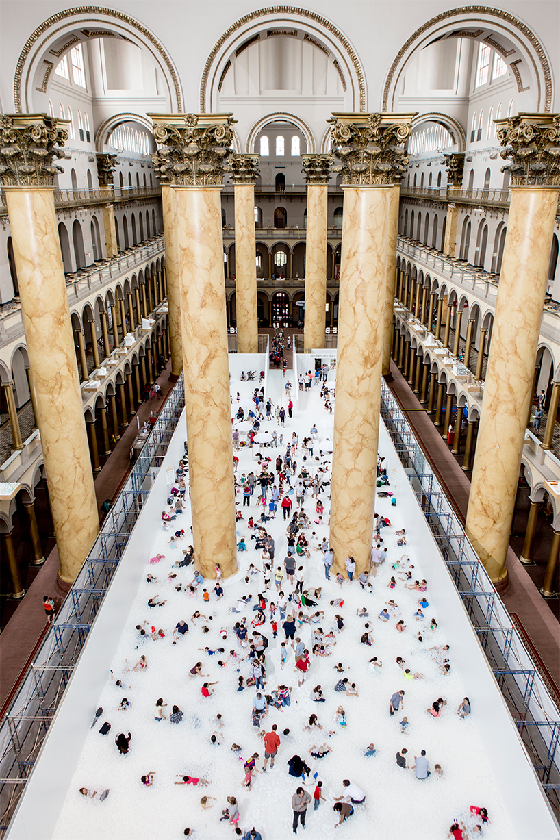 snarkitecture turns the national building museum into a