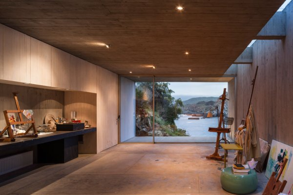 Painter's studio in Los Vilos, Chile