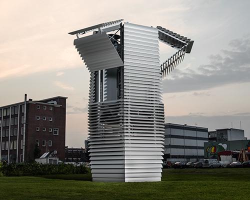 daan roosegaardes smog free tower opens in rotterdam