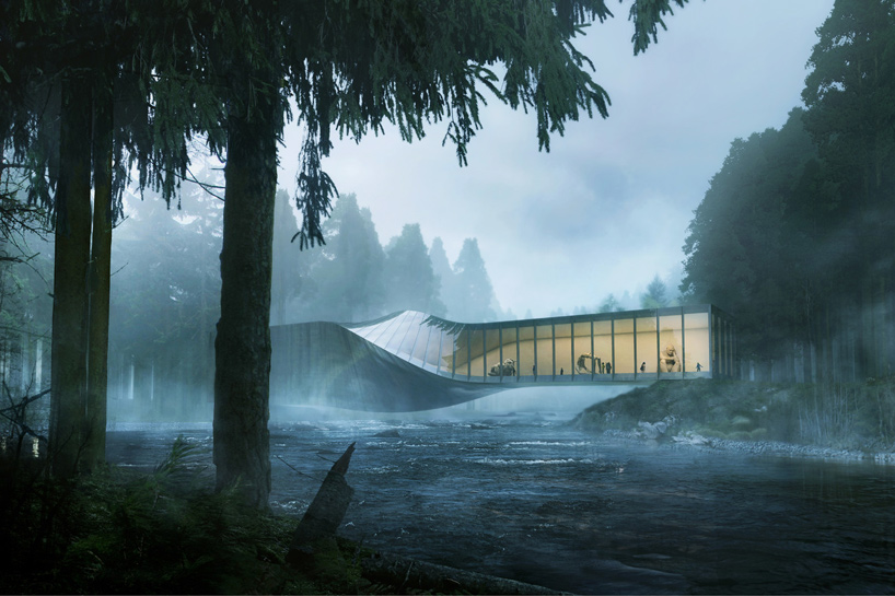 BIG plans twisted museum building for kistefos sculpture park
