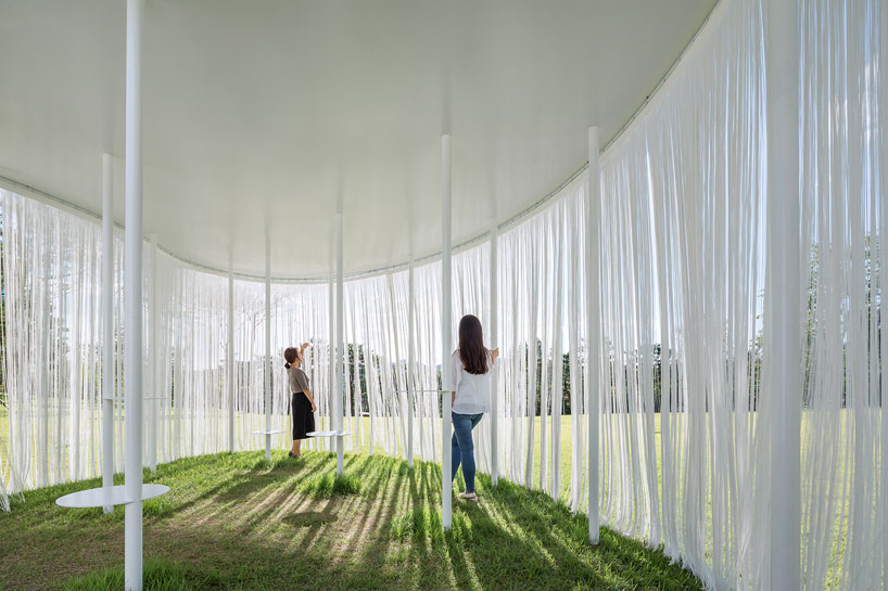 OBBA blurs boundaries with their floating oasis pavilion