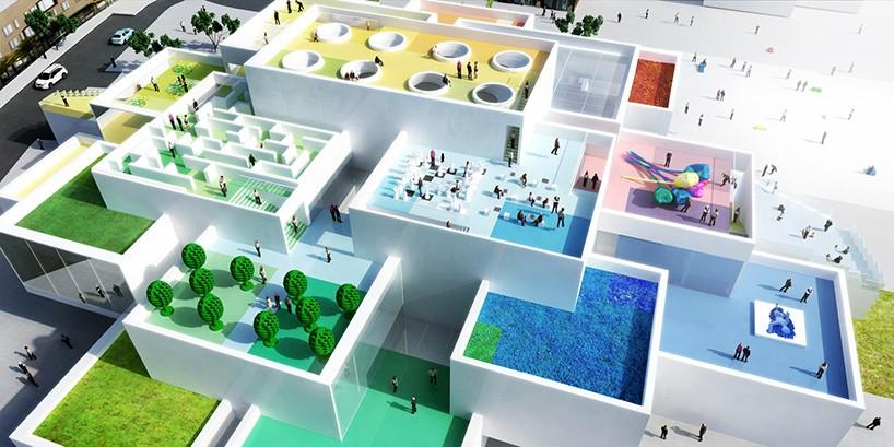Bjarke Ingels LEGO House Tops Out In Denmark