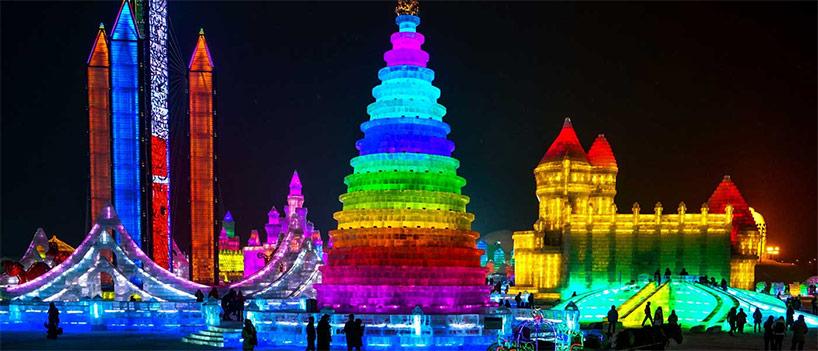 china prepares to open 2016 harbin ice festival