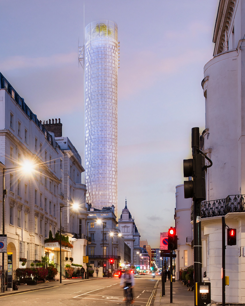Renzo Piano Reveals Cylindrical 65 Storey Tower For London