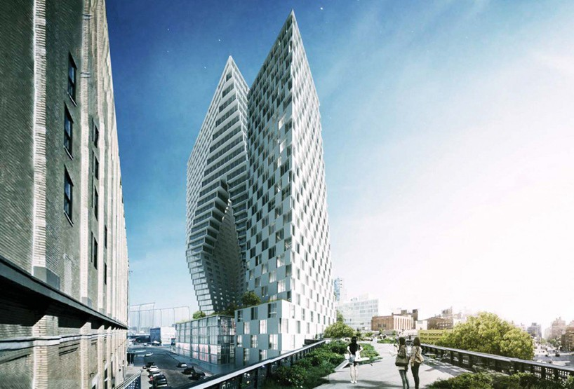 BIG reveals sliced towers proposal situated by new yorks