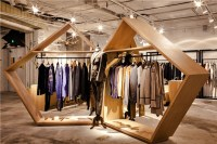 bloom design creates minimal interior for the fashion door