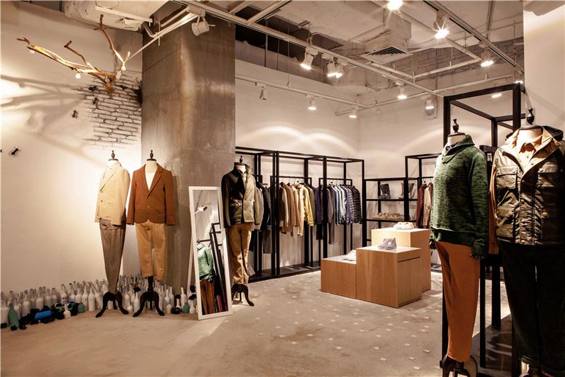 bloom design creates minimal interior for the fashion door