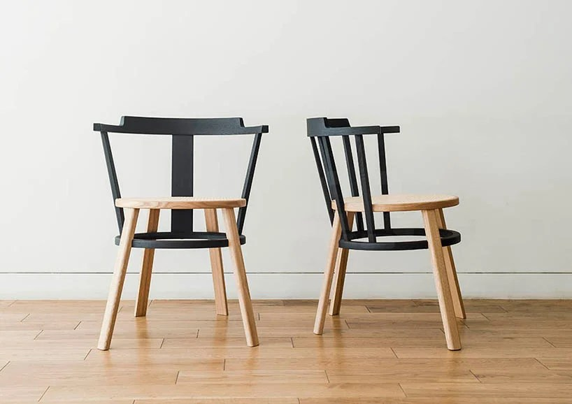 drill design reimagines the traditional windsor chair with