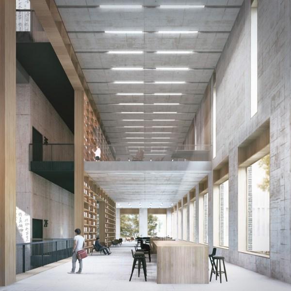 Mecanoo Organizes Shenzhen' Longhua Art Museum Library Series Of Patios