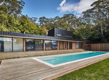 modscape conceals modular pool-side home in australia with ...