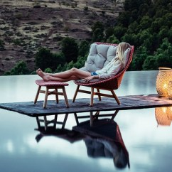 Green Lounge Chair Best Mat For High Pile Carpet Sebastian Herkner's Outdoor Mbrace Collection Dedon At Imm Cologne
